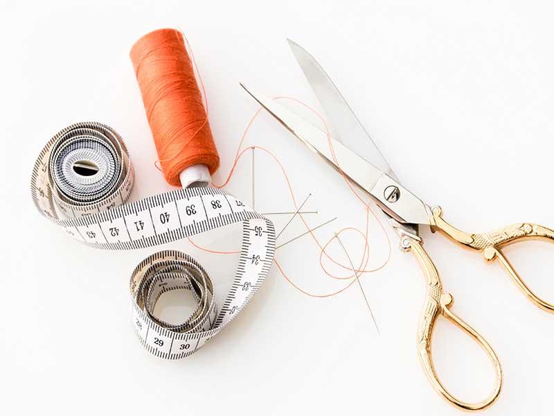 Materiales básicos para coser