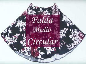 ddb6218ef 👗Cómo hacer una Falda medio circular Fácil | Crear y Coser