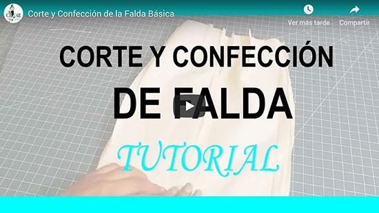 Cómo Cortar y Coser La Falda Usando El Molde Básico